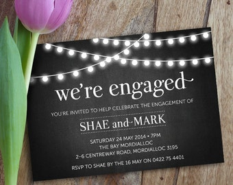 Engagement Party Invitation, Engagement Party Invite, Engagement Dinner, DIY Printable