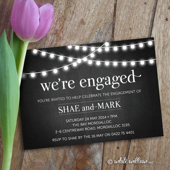 engagement party invitation engagement party invite, Party invitations