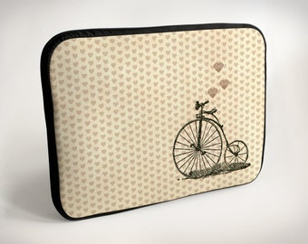 Bicycle with heart - Laptop Case - Laptop Bag - Laptop Sleeve