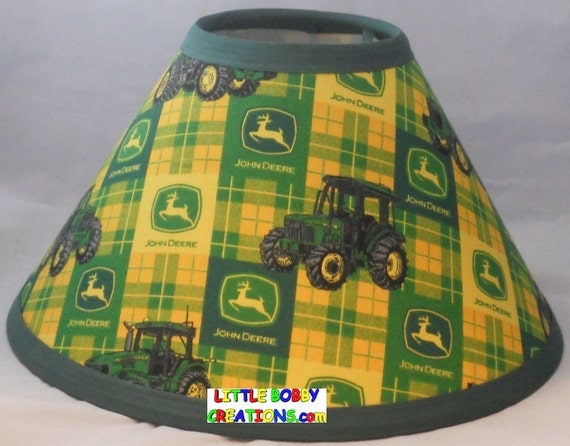 Green John Deere Lamp Shade : Country tractor fabric lamp shade shades to choose from