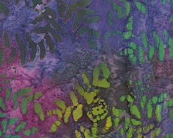 Bali batik fabric leaves 072-5 orange Green 0,5 m pure cotton fabric