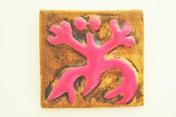 Puerto Rico Taino Coqui Ceramic Tile Wall Art Boricua