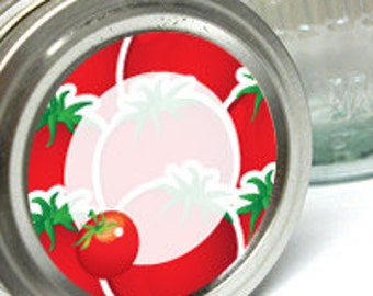 """24 mason jar Buy TOMATOES & PICKELS 2"""" round canning labels two digital download sheetsfor canning jars"""