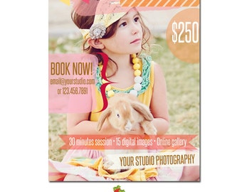 INSTANT DOWNLOAD - Photography Marketing board - Photoshop template - MA043