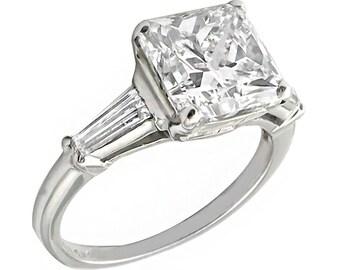 3.38ct Diamond  Engagement Ring