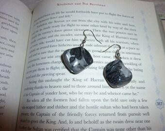 Unique Gray Stone Earrings