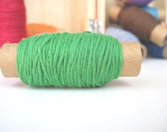 15  yards Solid Green Bakers Twine - 15 yards on each spool - green twine - green apple