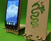 Classic Station Wooden Phone Holder Stand Samsung Galaxy S3 S4 Smartphone Dragon iPhone Dock Phone Stand Docking Station