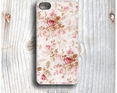 iPhone 5 Case Floral, iPhone 5s Case Pink Rose, iPhone 4 Case, iPhone 4s Case, Rose iPhone Case, Floral Chevron iPhone Cover T2