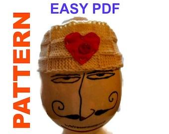 Headband PATERN PDF, Bandana Knit PATTERN, Head Wrap Pattern