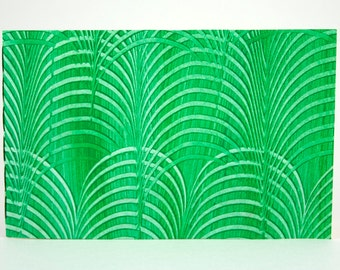 Green Landscape Notebook with Paste Paper