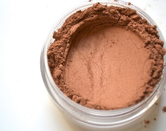 Bronze mineral foundation makeup, four in one mineral powder, natural pigments, cruelty free