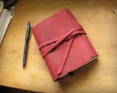 Agenda Planner 2014 Brooxx Carboneria with ringbinder made of red leather