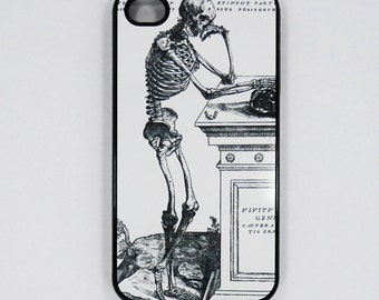 Iphone 6 iphone 5 iphone 4  4s Skeleton thought  Vintage art  Samsung ipod case mobile cell Phone case cover cell phone snap case black blue