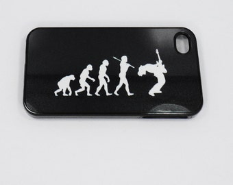 Case Iphone 6  iphone 5 iphone 4  4s  Evolution Rock Music  case mobile cell Phone case cover cell phone snap case black blue