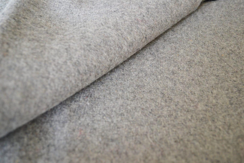Light grey felt fabric by the yard- Wool felt by the yard- Wholesale felt