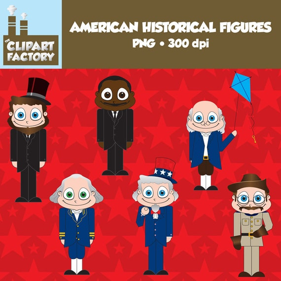 Clip Art Fun Wamerican Historical on Historical Figures George And Abe