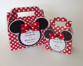 Minnie Mouse Party Favors, Minnie Mouse Favors, Personalized Minnie Mouse Party Favor, Set of 12