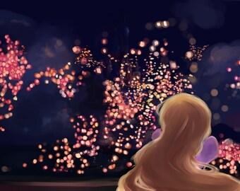 Rapunzel - Tangled Print