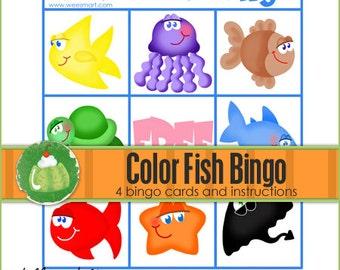 FISH Color Match BINGO - Downloadable PDF Only