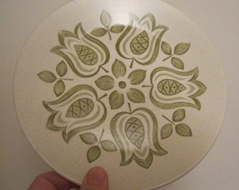 Funky floral vintage retro 7 inch tea plate Very retro Tulip Time J & G Meakin china