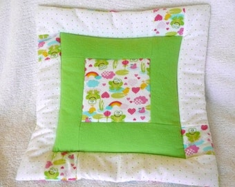 Froggy Love Toddler Pillow