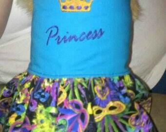 Mardi Gra Reversible Dog / Pet Dress