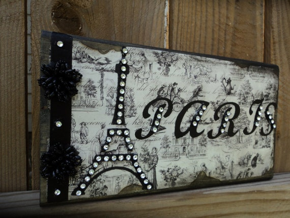 Items similar to paris decor sign decorative eiffel tower for Decorative stuff for bedroom