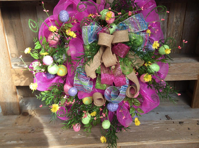 Easter Wreath Easter Egg Wreath Easter Front Door By Keleas