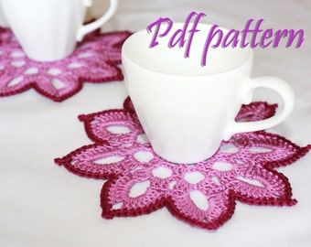 Crochet coaster Pattern PDF
