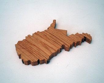 Wood West Virginia Coasters (set of 4)