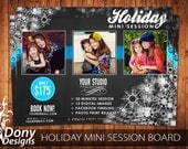 Holiday Mini SessionTemplate Photography Marketing board - Photoshop template Instant Download - BUY 1 GET 1 FREE: ms-427