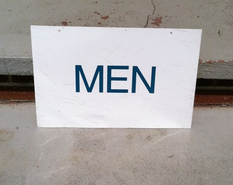 Vintage Mens Room Sign