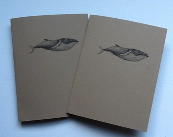 Blue Whale Kraft Notebooks/Cahiers, Moleskin