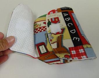 Zip Pouch - tri-fold wallet - teacher gift - back to school