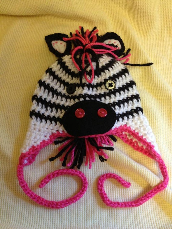 Crochet Pattern Zebra Hat : Crochet Zebra Hat