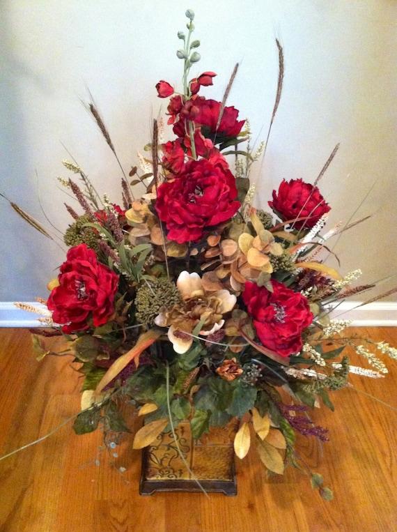 Extra Large Luxury Fall Autumn Floral Arrangement Silk Flowers