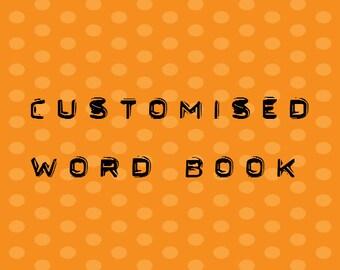 8 Letter Word Album Pre Made Scrapbook Memory Book