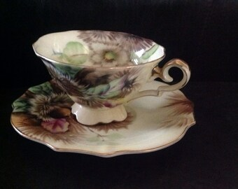 Saji Hand-painted Cup and Saucer