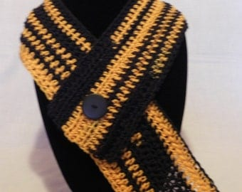 College Football Black and Gold Cowl Neckwarmer