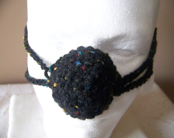 Black Fleck Tweed Nose Warmer