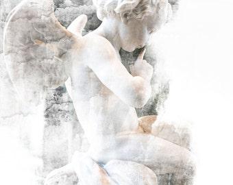 Art, Photography, Cherub, Digital Art, Wall Art, Paris Photography, Paris Print, Fine Art Prints, Paris Art, Angel Photography, Angel Photo