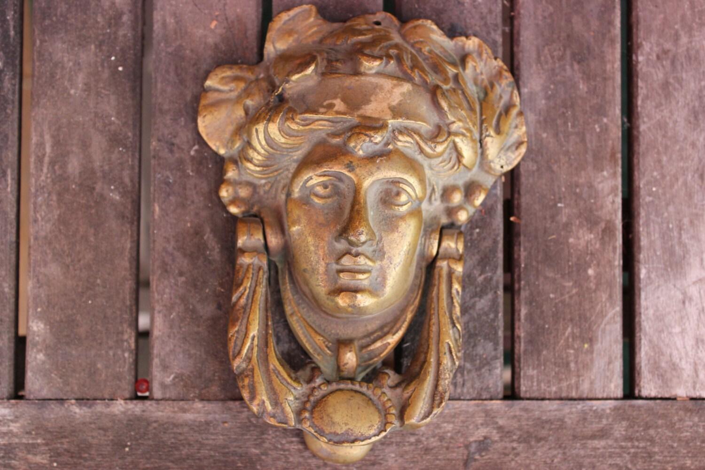 Vintage brass door knocker - Vintage brass door knocker ...