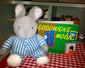 "Vintage Good Night Moon Book and 9"", Good Night Bunny Rabbit. - Beyondthegardenwall"