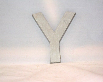 Solid Aluminum Uppercase letter Y, 1970s Commercial Lettering