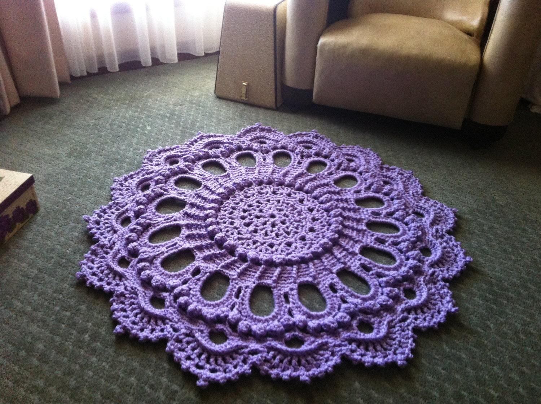 Luxurious Crochet Doily Rug Splendid Handmade