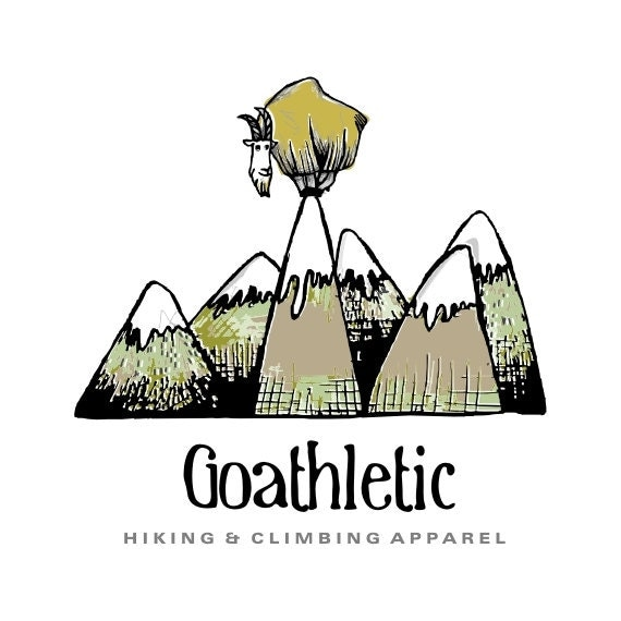Items similar to Premade Logo - Mountain Goat Logo Alpine ...