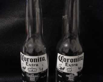 Coronita Salt & Pepper Shakers, Beer Shakers, Beer Bottle Salt and Pepper Shakers, Corona