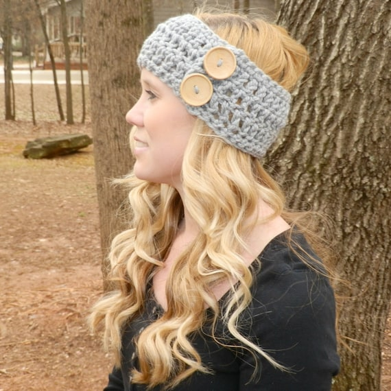 Ear Warmer with Buttons