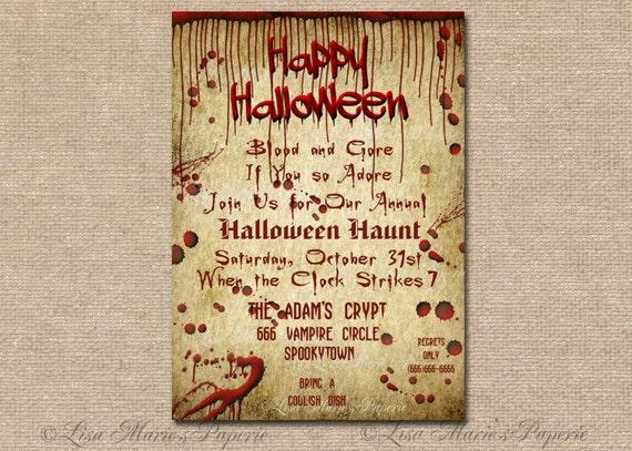 Fun halloween party ideas for adults halloween invitation halloween party digital invite spooky bloody party invitation halloween party invite solutioingenieria Gallery